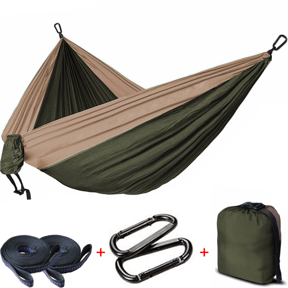 Camping Hammock Chair-Bed Rocking Double-Hanging Beach-Garden Swing Parachute Hamaca