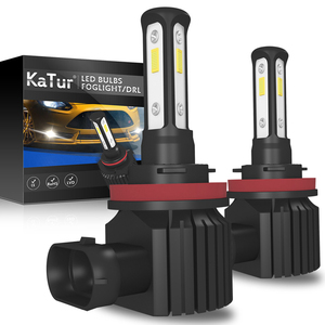 Image 1 - Mini H11 LED With 3570 CSP Car Lamps Anti Fog Lamp Bulb H4 H8 H7 Fog Light HB3 9005 HB4 9006 6000K Luces Led Para Auto 12V DC