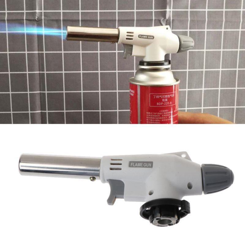 Portable Metal Flame Gun BBQ Heating Ignition Butane Camping Welding Gas Torch Y98E