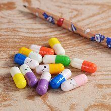 50 шт./упак. милые капсулы с выражением любовь таблетки положить в подвеска Бутылка с желанием влюбленных подарок школьные офисные поставки