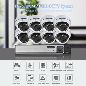 Image 2 - AZISHN واقية من الانفجار H.265 8CH 3MP POE الأمن نظام الكاميرا طقم NVR الصوت IP كاميرا داخلي في الهواء الطلق CCTV المراقبة NVR مجموعة