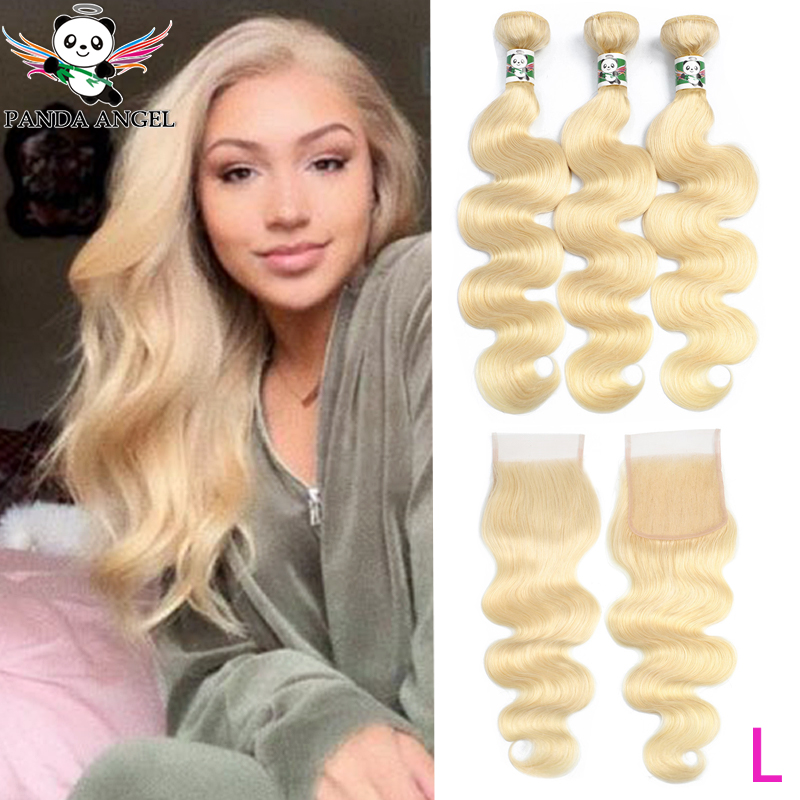 H40e909d24a4d4592a3f6a0f6891f20191 Panda 4x4 Honey Blonde Lace Wigs #613 Brazilian Hair Ombre Straight Lace Closure Wig 150% Density Blonde Human Hair Wigs Remy