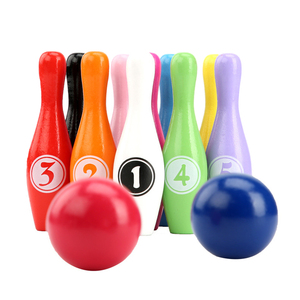 1 Set of Bowling Pins and Balls Colorful Durable Bowling Toy Bowling Plaything Educational Toy for Kids Children Teenagers(China)