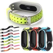 Мягкий спортивный mi Band 3 4 ремешок на запястье для Xiaomi mi band 3 спортивный силиконовый браслет для mi band 4 3 band3 Смарт-часы браслет