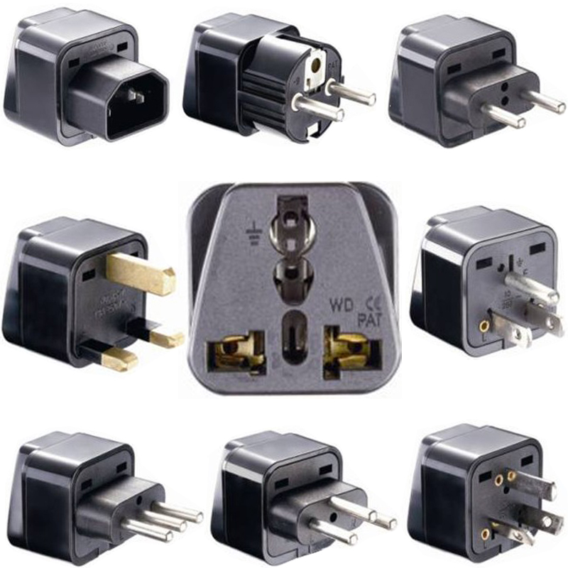 Universal CE Kr American European Power Plug Adapter AU EU To US UK USA Adapter Plug Japan Israel Brazil India Travel Converter