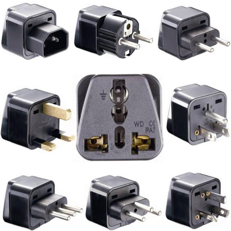 Universal CE Kr American European Power Plug Adapter AU EU To US UK USA Adapter Plug Japan Israel Brazil India Travel Converter