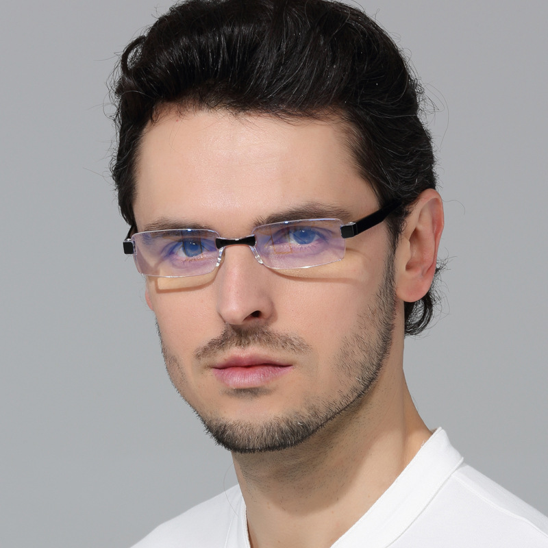 Anti Blue Light Reading Glasses Men Women Rimless Presbyopic Eyeglasses Hyperopia Eyewear Diopter +1.0 1.5 2.0 2.5 3.0 Unisex