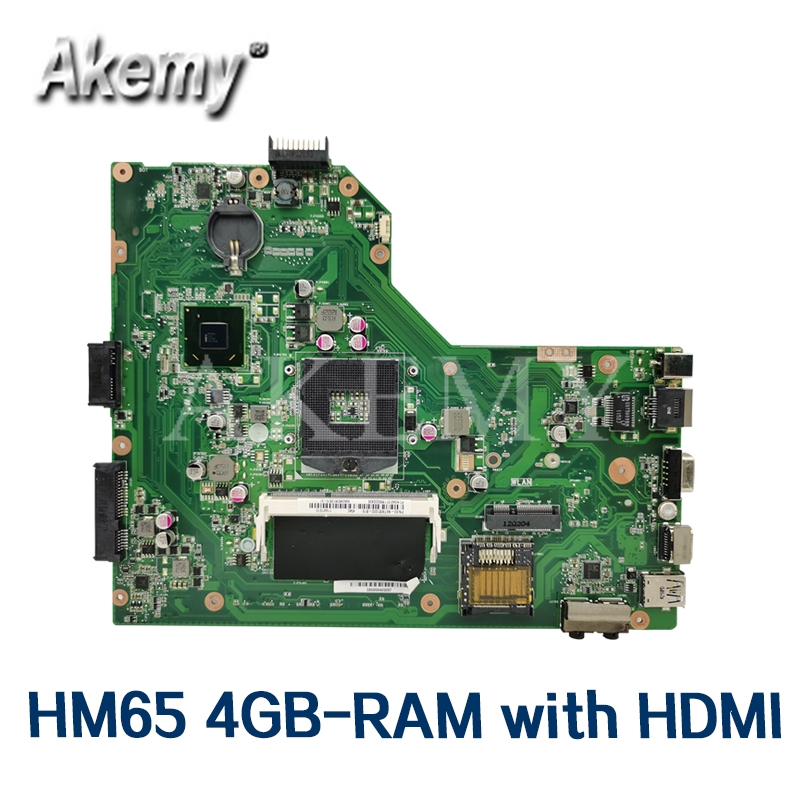 Akemy Mianboard W/ HM65 4GB-RAM HDMI For <font><b>ASUS</b></font> K54LY K54HR <font><b>X54H</b></font> X54HR K54L K54C X54C laptop <font><b>motherboard</b></font> tested 100% work original image