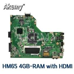 Akemy Mianboard W/ HM65 4GB-RAM HDMI para ASUS K54LY K54HR X54H X54HR K54L K54C X54C placa base de computadora portátil probado 100% trabajo original