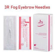 50 pçs 3r agulhas para caneta manual semi permanente maquiagem manual nevoeiro caneta agulha microblading sobrancelha caneta needles C0