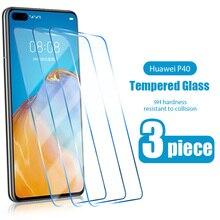 3 предмета в комплекте с уровнем твердости 9H протектор экрана из закаленного стекла для Huawei P30 P40 P20 Lite E Pro 5G 2019 Защитная пленка для экрана для ...