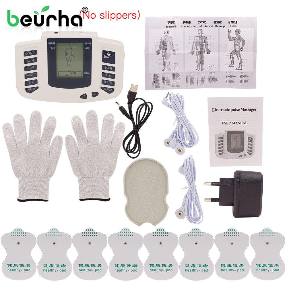 Elektrische Massage Stimulator Volle Körper Entspannen Muskel Therapie Massager Maschine Impuls Akupunktur Elektrode Zurück Massageador
