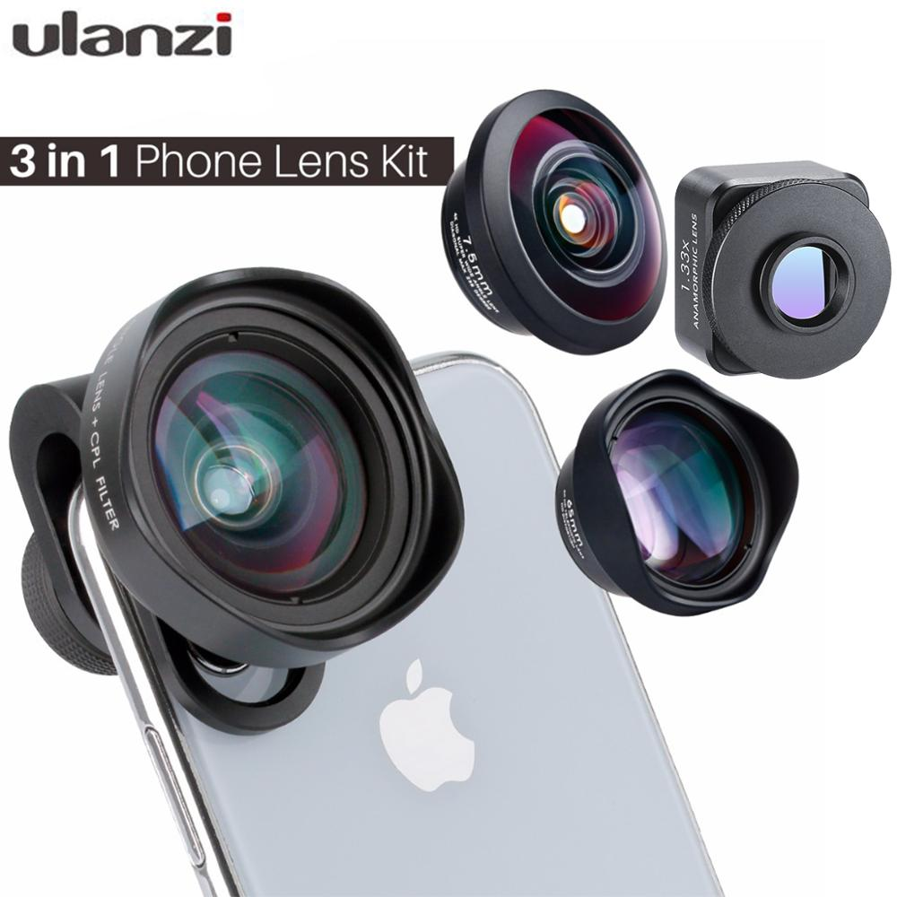 Ulanzi Mobile Smartphone Camera Wide-angle Lens With CPL Filter Anamorphic Lens Fisheye Telephoto Lens For IPhone X Samsung S9