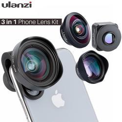 Lente grande angular da relação da lente 17mm do telefone celular de ulanzi com lente anamorphic do filtro de cpl lente olho de peixe telefoto 75mm lente macro