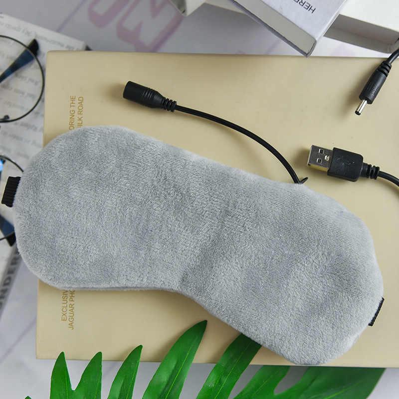 USB pary grzewczej cień do powiek lawenda maska do oczu przeciw ciemne koło przepaska na oko masażer do oczu zmęczenie Relief sen podróży opaska na oczy maska