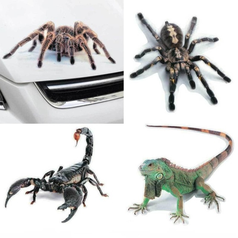 3D Car Sticker Animals Bumper Spider Scorpions Car-styling Decal Sticker Cars Auto Motorcycle Accessories