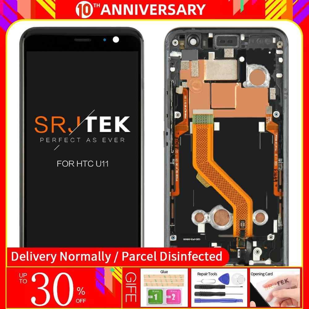 الأصلي 5.5 ''ل HTC U11 شاشة الكريستال السائل مجموعة المحولات الرقمية لشاشة تعمل بلمس قطع غيار محول رقمي