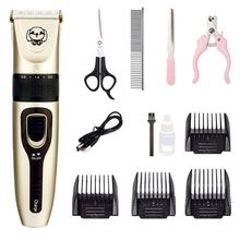 Dog Hair Trimmer Electric Pet Hair Clipper Kit Cordless Low Noise Rechargeable Dog Grooming Shaver Scissors Comb professional dog hair clippers grooming kit low noise rechargeable cordless dog cat pet electric hair clipper​ trimmer 100v 240v