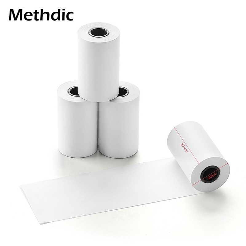 Methdic 57x30mm 50rolls Cash Register Paper Free Thermal Paper Rolls Till Roll