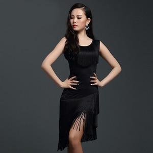 Image 2 - Đỏ Nhảy Latin Đầm Trưởng Thành Luyện Tập Nhảy Latin ĐẦM TUA RUA 1 Dess Cho Nữ Bóng Tango Cha Cha Cha vũ Trang Phục