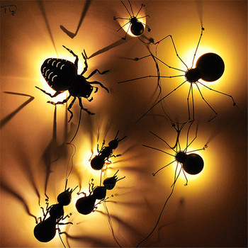 Vintage Retro Industrial Individual Insects Wall Lamp Led Bar Cafe Aisle Lighting Stairs Loft Decor Spider Ant Beetle Luminaire