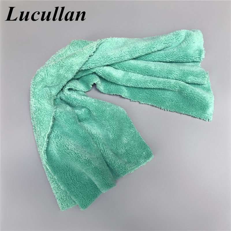 Lucullan Premium Super Absorbent 40X80CM Microfiber Towel Car Detailing Clothes Perfect For Paint Glass Interior Washing Drying