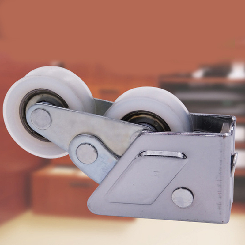 High Quality Stainless Steel Pulley 8*2*4cm Pulley For Glass Cabinet Sliding Door Roller Clamp Steel Wheel Pulley Track