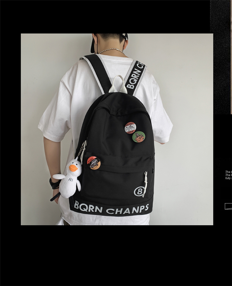 Coreano moda mochila estudante universitário casal mochila