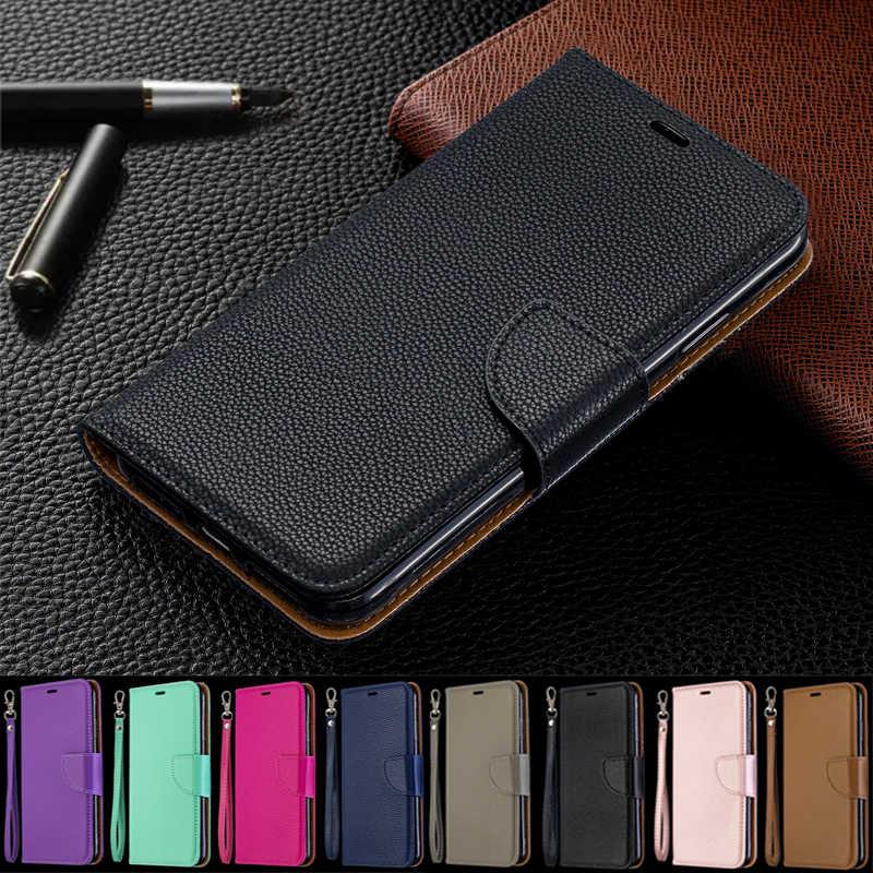 حافظة لهاتف Nokia 4.2 3.2 2.2 2019 Fundas Lichi محفظة قلابة حافظة جلدية لهاتف Nokia 1 Plus 5.1 3.1 2.1 2018 غلاف كُتُب حامل Capa
