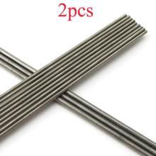 2 pçs m2 m2.5 m3 m4 completo rosqueado push pull tie rod comprimento servo ligação 250mm de aço inoxidável prendedor para rc modelo carro barco diy