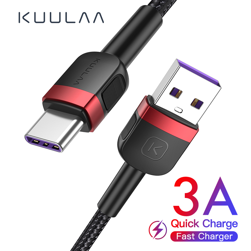 KUULAA type c cable For Xiaomi redmi note 9 8 7 usb c cable fast charge quick charger For samsung a51 S9 S8 USB-C USBC data cord(China)
