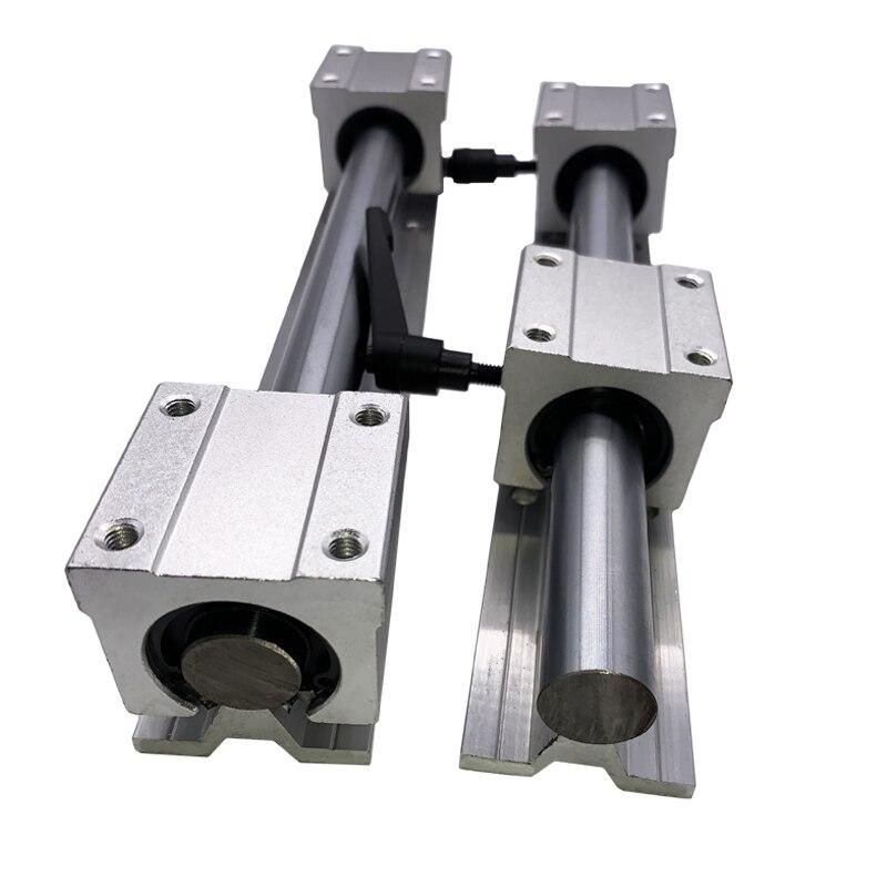 2pcs SBR12-L600mm Linear rails support+4pcs SBR12UU blocks linear bearing