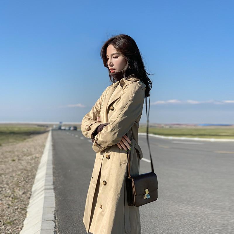 2019 Women Wool Blend Warm Long Coat Plus Size Female Slim Fit Lapel Woolen Overcoat Autumn Winter Cashmere Outerwear