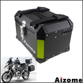Универсальный мотоциклетный Топ чехол для BMW Honda Triumph алюминиевая черная верхняя коробка для уличного велосипеда задняя багажная сумка задн...
