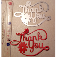 Kokorosa Thank you Word Dies Metal Cutting for Scrapbooking Die Cut Stitch Craft Troqueles New 2019 Stencil