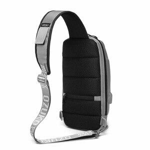 Image 5 - Brand Sling Waterproof Rivet Men Chest Bags Anti Theft Password Lock USB Charging Port Women Shoulder Bag Reflective
