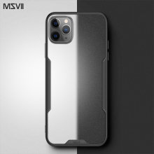 Msvii Telefoon Case Voor Iphone 11 Case Transparant Shockproof Cover Voor Iphone 11 Pro Max Case Luxe Pc Tpu Gevallen(China)