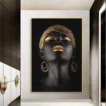 Африканские сексуальные черные женские парусиновые художественные