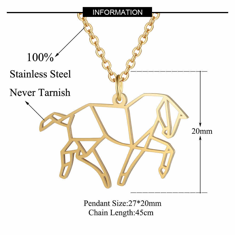 Do biegania koń naszyjnik LaVixMia włochy projekt 100% naszyjniki ze stali nierdzewnej dla kobiet Super moda biżuteria specjalny prezent