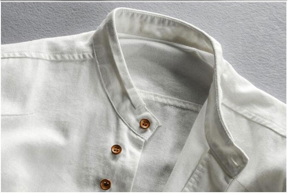 New sexy Men's Cotton Linen Shirts Long Sleeve Men Casual Slim Mandarin Collar Shirts Summer Beach Shirt plus size 6xl