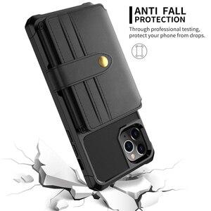 Image 4 - Para o iphone 11 pro x xr xs max caso, wefor cartão de crédito luxo dinheiro carteira kickstand volta caso para iphone 6s 7 8 plus telefone capa