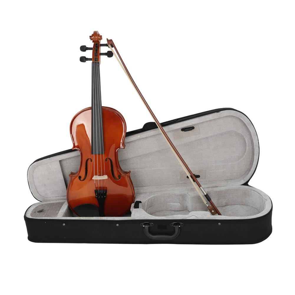 Mounchain 16inch Natural Acoustic Viola Solid Wood with Storage Case Bow Rosin Gift for Musical Lover