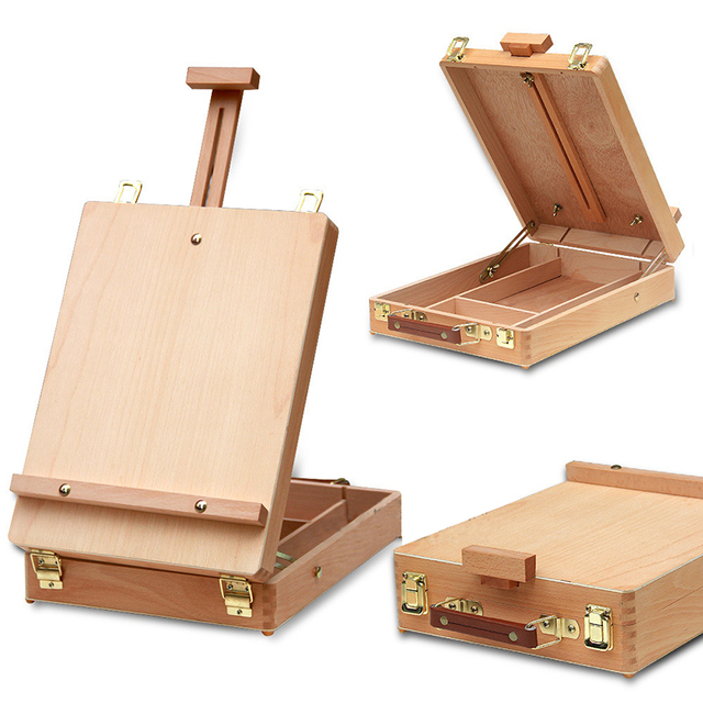 Fileto masaüstü dizüstü bilgisayar kutusu şövale boyama donanım aksesuarları çok fonksiyonlu boyama bavul sanat kaynağı sanatçı damla nakliye