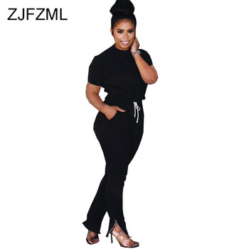 Plus Size 2 Piece Matching Sets Women Fall Winter Clothing O Neck Long Sleeve Top  And Drawstring Pocket Skinny Pant Club Outfit orange plus size 2 piece set women pant and top outfit tracksuit sportswear fitness co ord set 2019 summer large big clothing