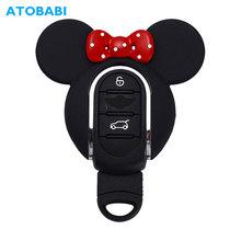 ABS obudowa kluczyka do samochodu brelok uchwyt inteligentny pilot obudowa ochronna piękny wymienić Shell dla BMW Mini Cooper F54 F55 F56 F57 F60 tanie tanio ATOBABI CN (pochodzenie) Z tworzywa sztucznego Black Red For BMW MINI Cooper Car key case shell