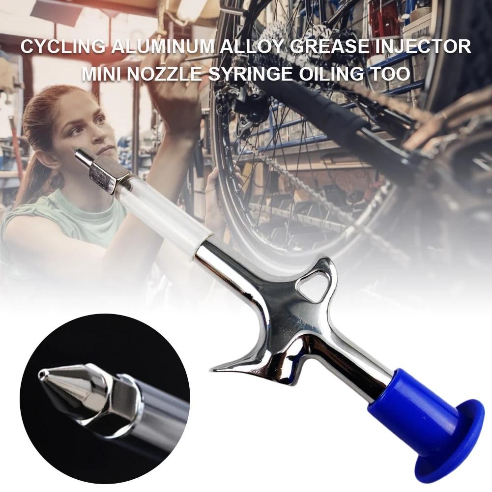 Mini Grease Gun with Needle Nozzle for Bike Hub Chain Headset Lubricating