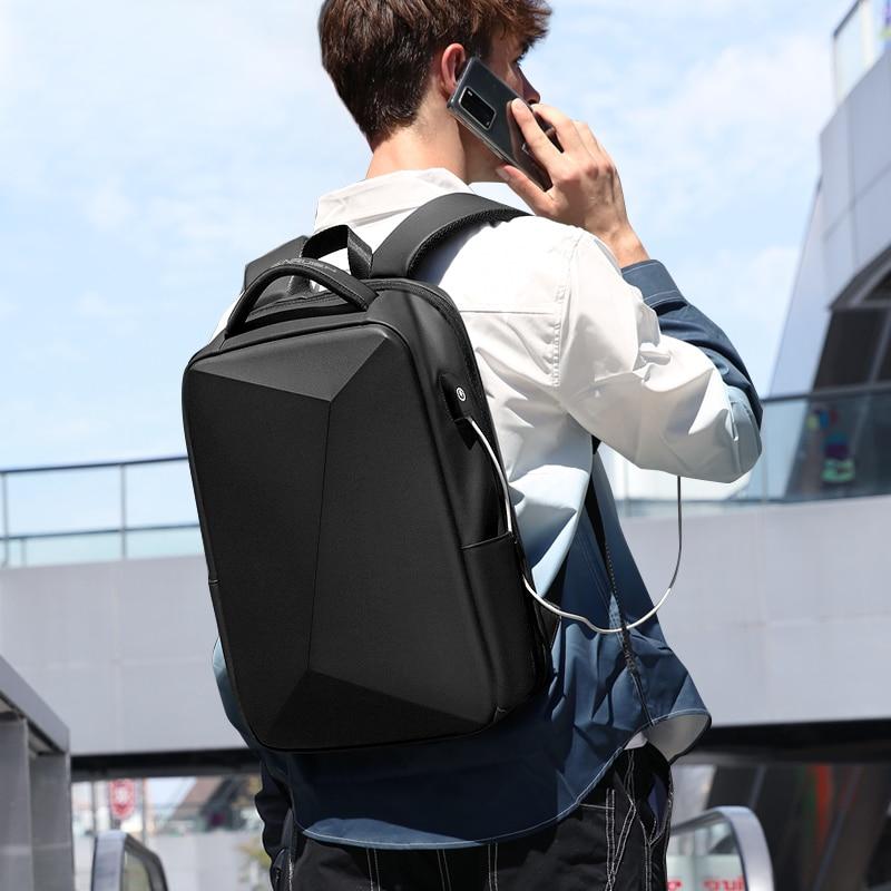 Fenruien Brand Laptop Backpack Anti-theft Waterproof School Backpacks USB Charging Men Business Travel Bag Backpack New Design 2