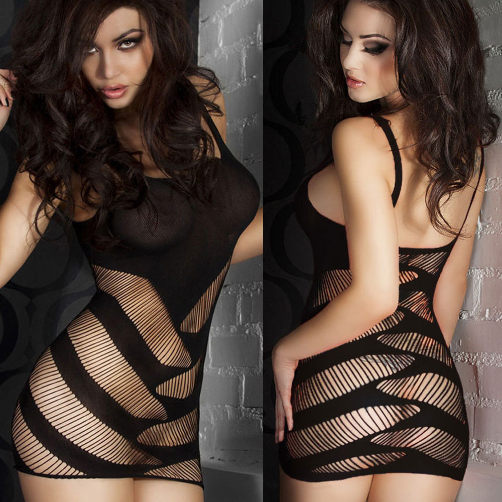 Sexy Lingerie Sexy Net Jacquard Perspective Net Clothes Sexy Suit Bag Hip Skirt Sexy Clubwear   Lingerie Dress