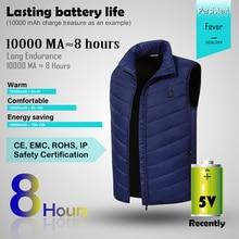цена Hot Sale Electric Heated Vest Jackets Men Women Heating Waistcoat Usb Thermal Warm Clothing Feather Winter Heated New Technology онлайн в 2017 году