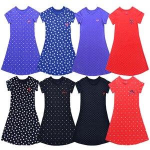 Платья для девочек, летнее платье с цветочным рисунком для девочек, платье принцессы, детское Полосатое платье с коротким рукавом, Детские п...